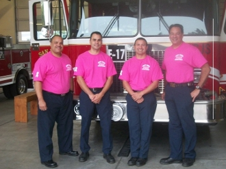 Pink SJFD T-Shirt for Breast Cancer Awareness