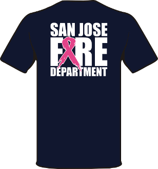 Navy SJFD T-Shirt for Breast Cancer Awareness